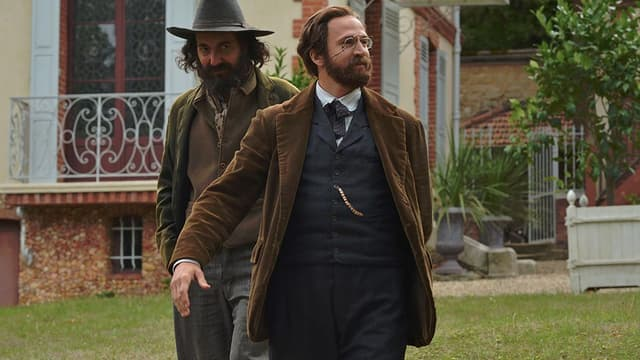 """Guillaume Gallienne et Guillaume Canet, dans la peau de Paul Cézanne et Emile Zola, pour le film """"Cézanne et moi""""."""