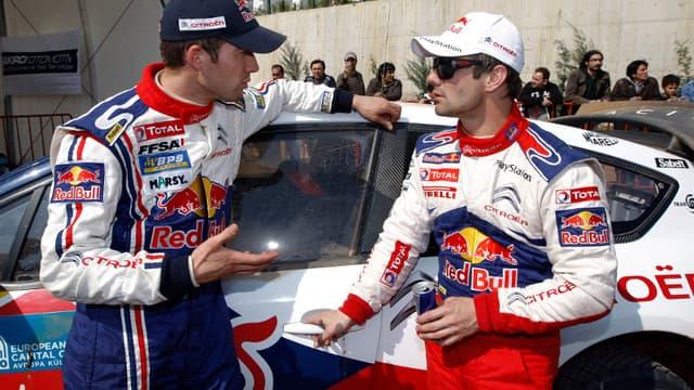 Sébastien Loeb et Sébastien Ogier
