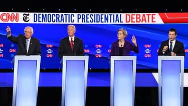 Les quatre favoris des primaires démocrates: Bernie Sanders, Joe Biden, Elizabeth Warren et Pete Buttigieg.