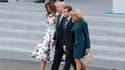 Le couple Trump et le couple Macron le 14 juillet 2017 à Paris.