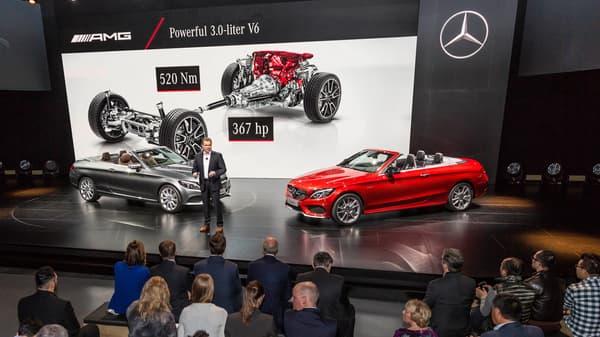 Mercedes a dévoilé la version cabriolet de la C43 AMG à Genève.