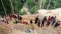 Les sauveteurs recherchent des survivants sur le site d'une mine d'or illégale indonésienne