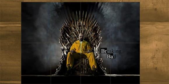 """""""Breaking Bad"""" et """"Le Trône de fer"""" en un seul poster."""