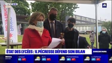 Val-de-Marne: Valérie Pécresse en déplacement de campagne dans un lycée