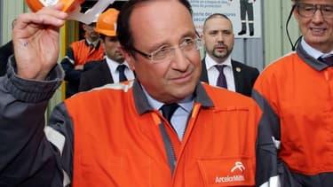 François Hollande avait déjà effectué le déplacement à Florange, en septembre 2013.