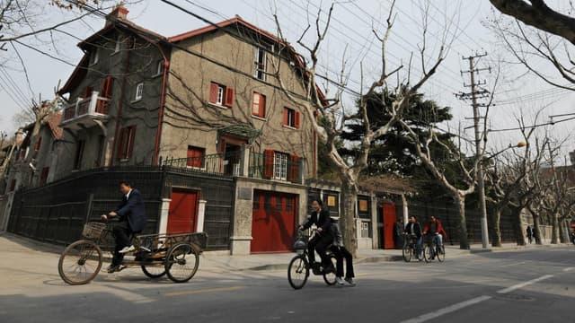 Le quartier de la concession française à Shanghaï, en Chine