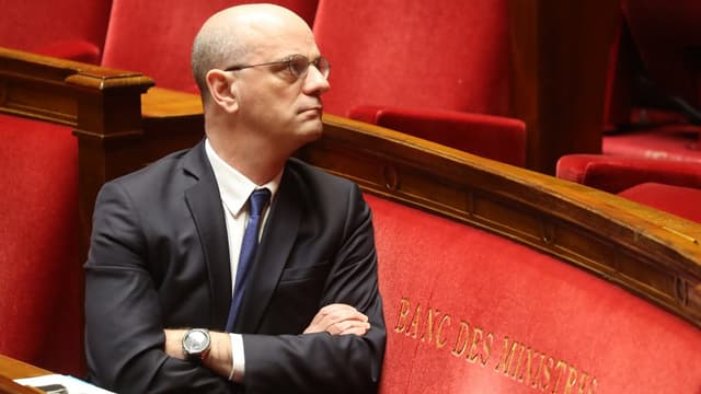 Le ministre de l'Education Jean-Michel Blanquer, à l'Assemblée nationale le 19 mars 2020