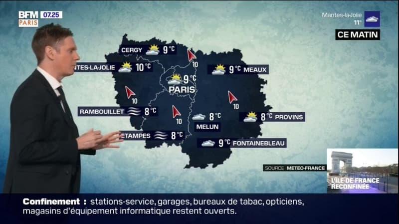 Météo: un samedi nuageux, de possibles éclaircies dans l'après-midi, jusqu'à 18°C à Paris