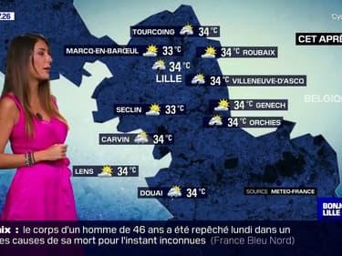 Météo: des températures toujours très élevées à Lille ce mardi, un beau ciel bleu ce matin qui pourrait tourner à l'orage dans l'après-midi