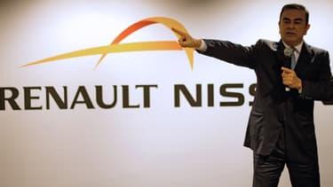 Carlos Ghosn , le PDG de l'alliance Renault-Nissan