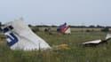 Des débris du Boeing 777 de la Malaysia Airlines après s'être écrasé dans la région de Donetsk, en Ukraine