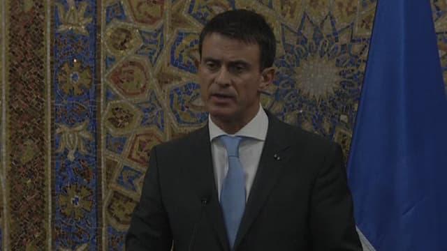 Manuel Valls à Amman, en Jordanie, le 11 octobre.