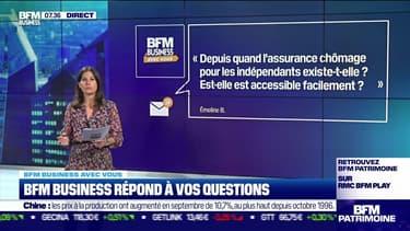 BFM Business avec vous : Depuis quand l'assurance chômage pour les indépendants existe-t-elle ? - 14/10