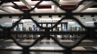 Une station de métro fermée - Image d'illustration