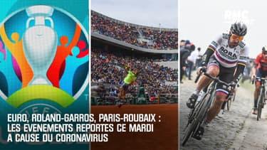 Euro, Roland-Garros, Paris-Roubaix ... : les événements annulés ce mardi à cause du coronavirus