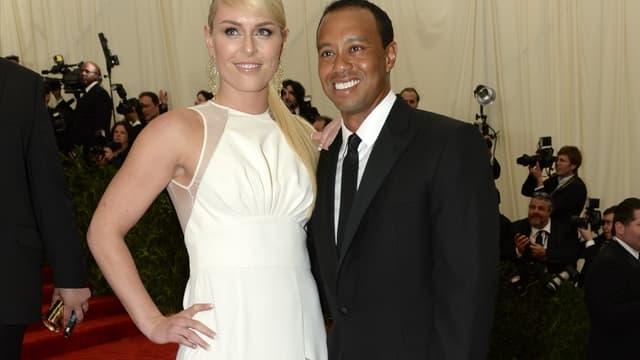 Lindsey Vonn et Tiger Woods