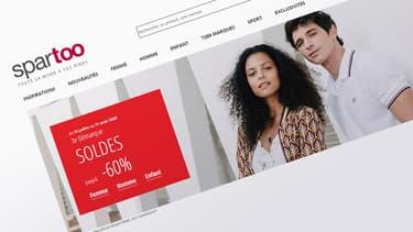 Capture d'écran du site Spartoo.com