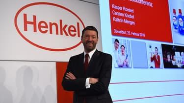 Le patron d'Henkel, Kasper Rorsted, pose le 26 février à Düsseldorf.