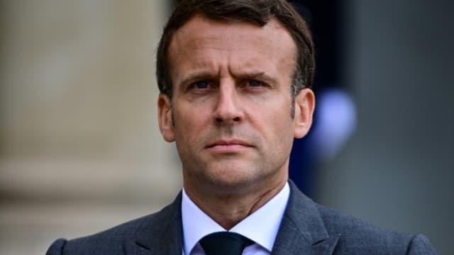 Le président français Emmanuel Macron à l'Elysée, le 21 mai 2021 à Paris