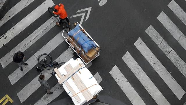 Les vélos équipés de remorques vont-ils contester l'hégémonie des camionnettes en ville ?