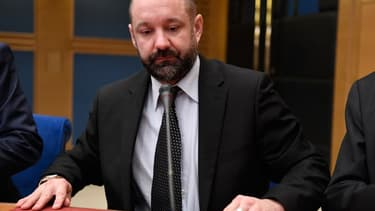 Vincent Crase le 21 janvier 2019 devant la commission d'enquête du Sénat à Paris.