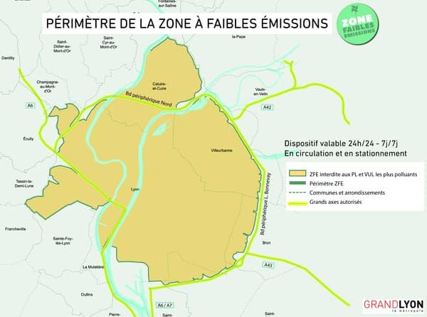 Le périmètre actuel de la Zone à faibles émissions.