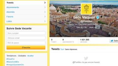 Le compte @Pontifex sur Twitter a fait place nette après la renonciation de Benoît XVI, le soir du 28 février 2013