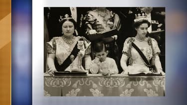 Le Prince Charles en 1953 lors du couronnement de sa mère Elizabeth II.