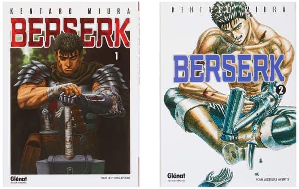 """Couverture des deux premiers tomes de """"Berserk"""""""