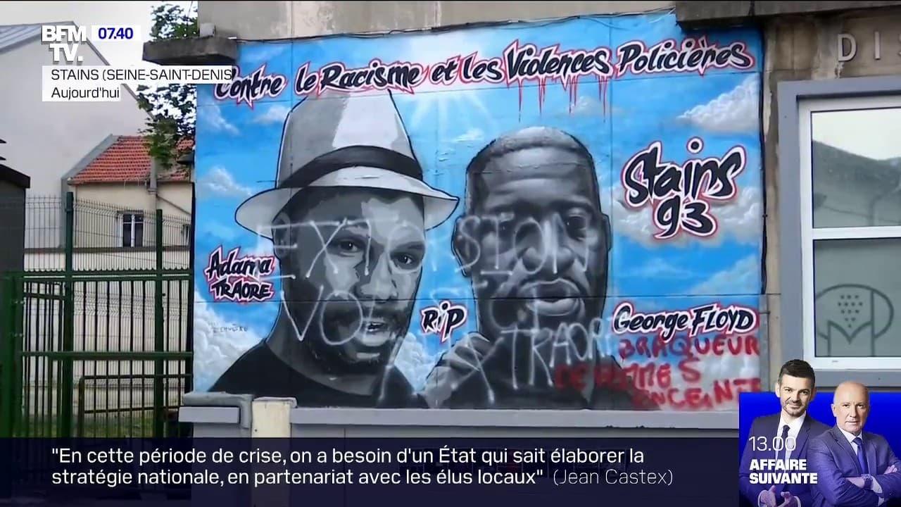 Stains: la fresque en hommage à Adama Traoré et George Floyd a été vandalisée