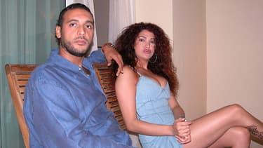 Hannibal Kadhafi et son épouse, dans un cliché non daté.