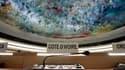 Siège réservé à la Côte d'Ivoire lors d'une session spéciale du Conseil des droits de l'homme consacrée à la situation post-électorale dans le pays et organisée dans les locaux de l'Onu à Genève. L'Assemblée générale des Nations unies a officiellement rec