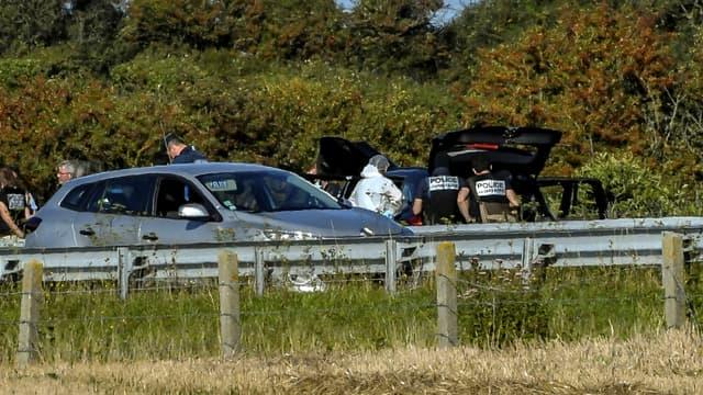 La voiture du suspect.