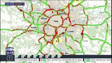 Ile-de-France: trafic inhabituellement chargé sur les routes ce vendredi en fin de journée