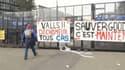 Manifestation des salariés de Goodyear, à Rueil-Malmaison, le 7 mars 2013..