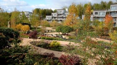 """Le domaine """"Village Nature Paris"""" lors de sa construction en 2016."""