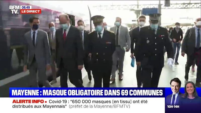 Jean Castex est arrivé à Lille, où il évoquera le port du masque obligatoire dans les rues de la ville