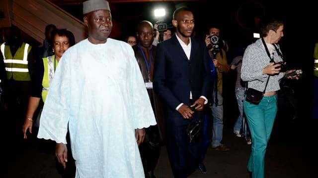 Lassana Bathily à son arrivée à Bamako, le 28 janvier.