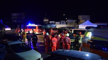 Les secours sur le lieu de l'accident