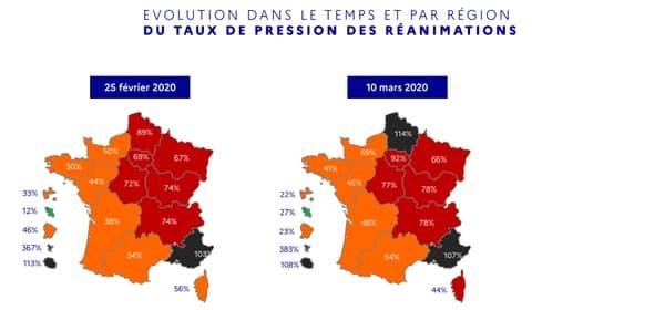 La pression sanitaire est particulièrement forte dans trois régions