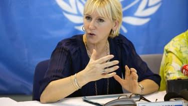 Margot Wallström, chef de la diplomatie suédoise.