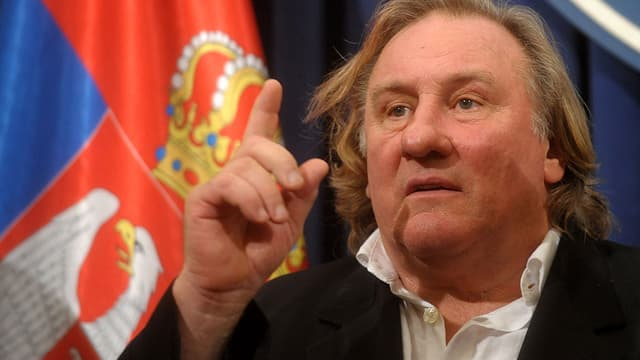 Gérard Depardieu à Belgrade, en septembre 2014.