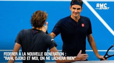 """Le message de Federer à la nouvelle génération : """"Rafa, Djoko et moi, on ne lâchera rien"""""""