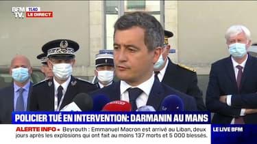 """Policier tué au Mans: Gérald Darmanin déplore """"un drame qui touche tous les Français"""""""