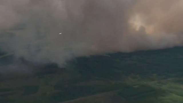 Gigantesque incendie en Alaska, en juin 2015.