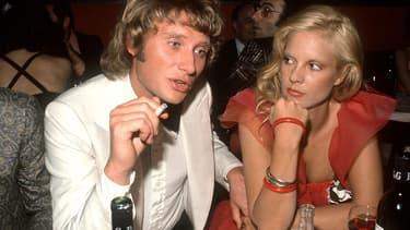 Johnny Hallyday et Sylvie Vartan en 1973.