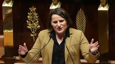 La cheffe des députés PS Valérie Rabault à l'Assemblée nationale, le 3 mars 2020 à Paris