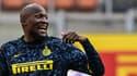 Romelu Lukaku hilare sous le maillot de l'Inter Milan
