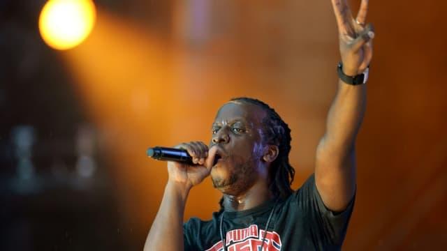 Le rappeur Youssoupha en 2013 au Stade de France à Saint-Denis