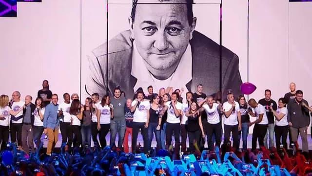 Les Enfoirés en concert à Toulouse, en janvier 2017